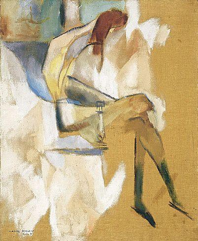 Collection Online | Marcel Duchamp. Apropos of Little Sister (À propos de jeune soeur). October 1911 - Guggenheim Museum