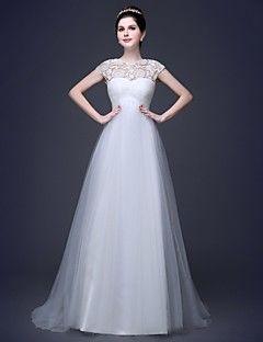 Vestido de Noiva Trapézio Coração Comprido