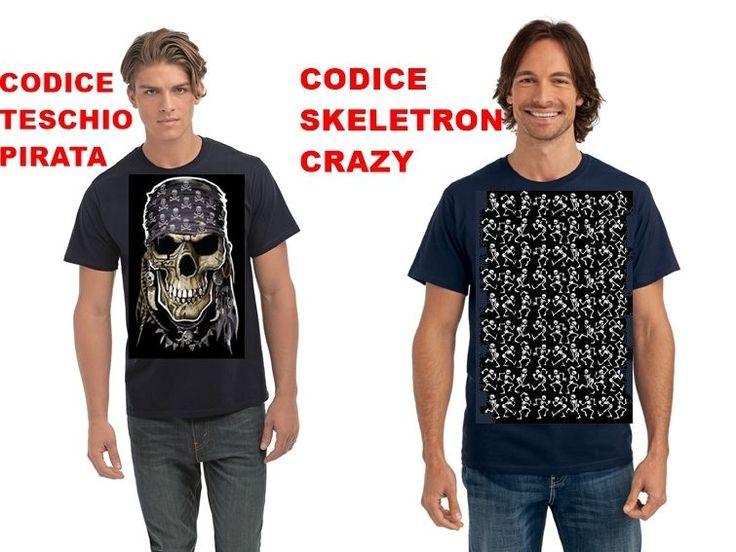 tshirt spampate teschio skull pirata tshirt printed magliette disegni