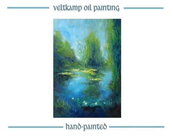 no shipping costs  landscape flower oil by VeltkampOilPainting