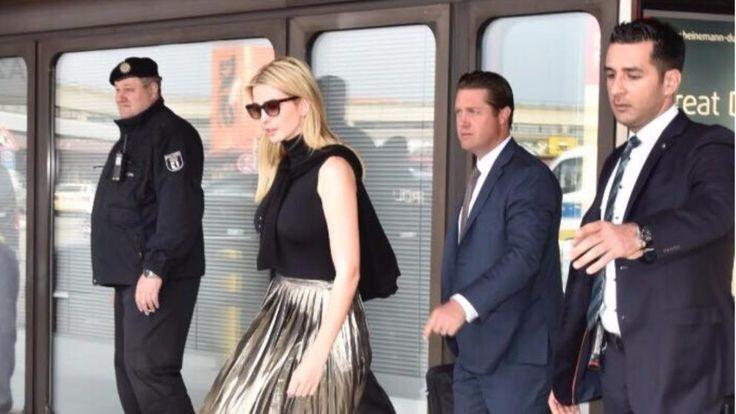 Ivanka Trump (35) bei ihrer Ankunft am Flughafen Berlin-Tegel