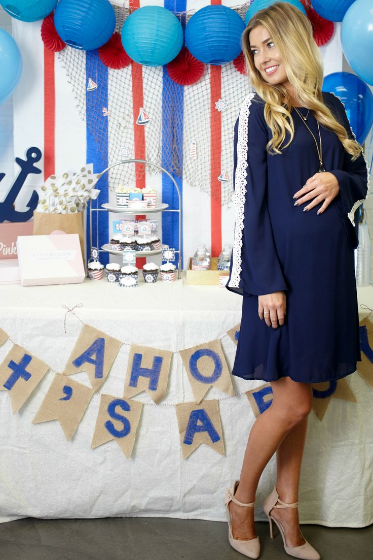 Baby Shower Style if you are going to have a boy! Check out more cute, affordable maternity dresses at PinkBlush