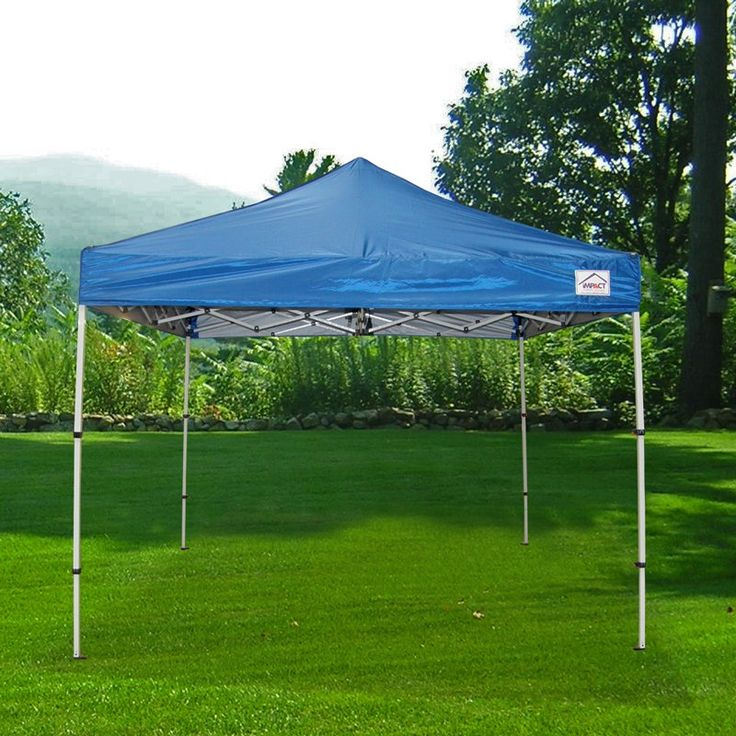 impact canopy 10 x 10 ft pop up canopy tent folds to 42 in tall instant canopy bootshdkrb