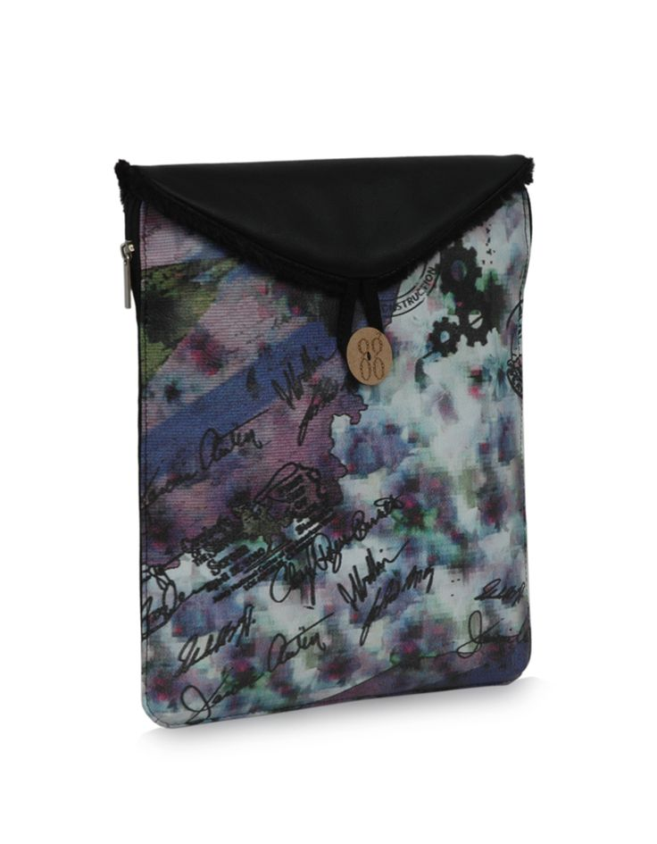 MU Safety Bindas Black : Streaky, bright black toned iPad case by Baggit.