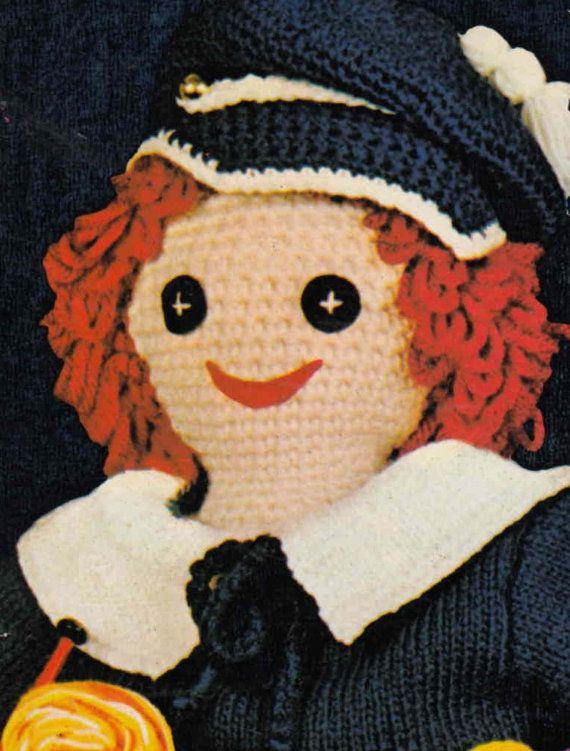 Knitting Pattern For Sailor Doll : Crochet Toy Doll ... PDF Crochet Pattern ... Crochet ...