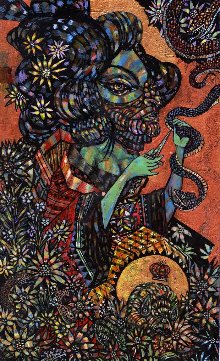 Truth behind a beautiful lie.    Jon Todd Fine Art - Paintings