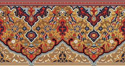 Bradbury Eastern Style Wallpapers | Persian Fringe Wallpaper Border