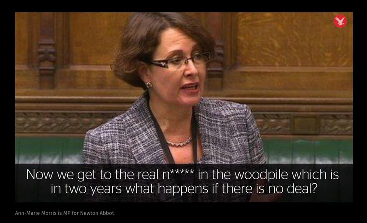 Brexiteer Ann-Marie Morris tells panel of fellow Leave Tory MPs UK leaving EU without deal is 'real n***** in the woodpile' ... and they say nothing