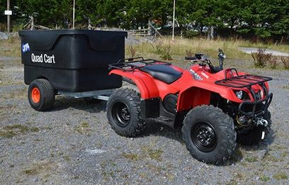 ATV quad trailer with a 1200 litres capacity. Suitable for ATV quad bikes, compact tractors, ride-on lawn mowers and UTVs. For more info contact us at http://www.fresh-group.com/trailers-trolleys-and-carts.html