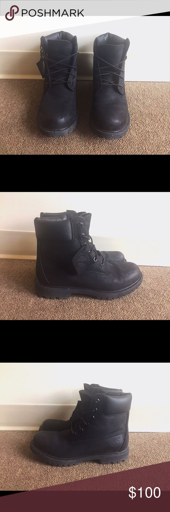 """Women and Men - Black Waterproof Timberland 6"""" Unisex Black 6"""" Waterproof Timberlands -- Used only 2 times, still in perfect shape. If you need more pictures send me a message☺️ Timberland Shoes Winter & Rain Boots"""