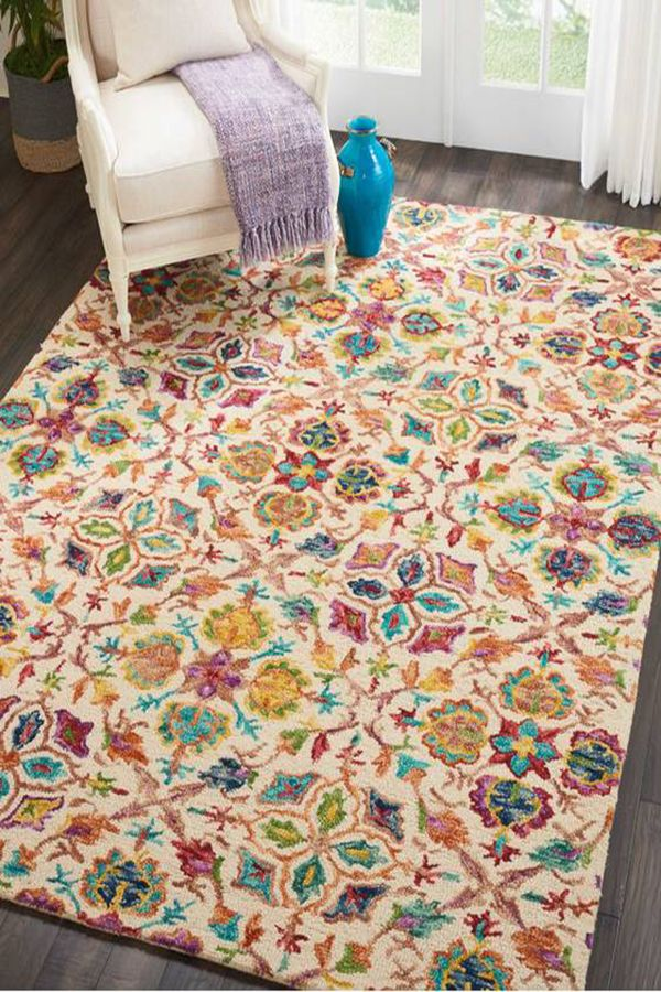Hand Tuftted Indoor Rug Colorful Area Rug Rugs In Living Room Kids Rugs