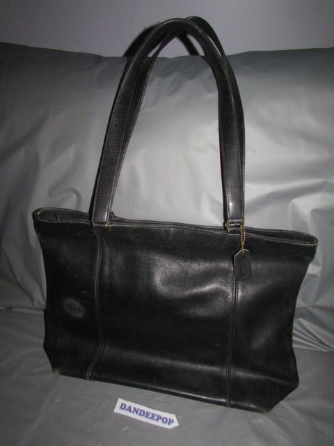299c1e4c Vintage Coach Black Leather Handbag Tote Bag 702 4844 #Coach #Tote ...