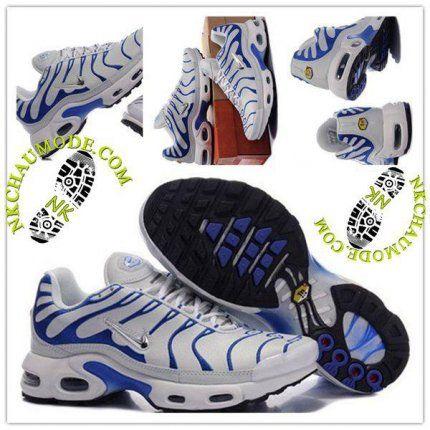 Tendance | Nike Chaussure Sport Air Max Tn Requin Femme Gris Clair Bleu