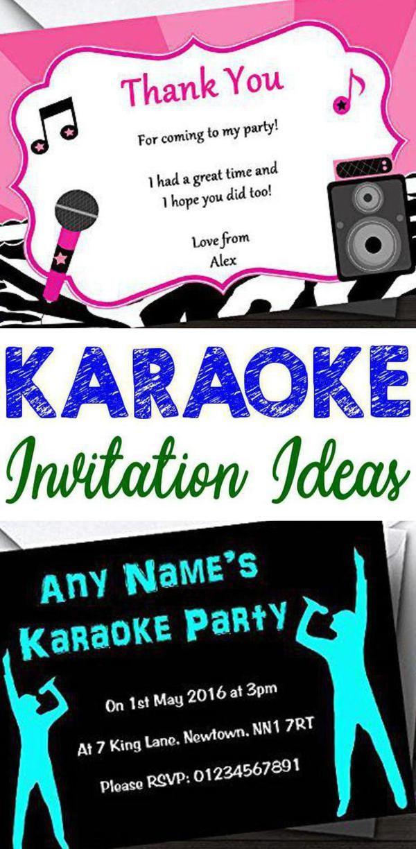 Karaoke Party Invitations Karaoke Party Party Invitations Online Party Invitations