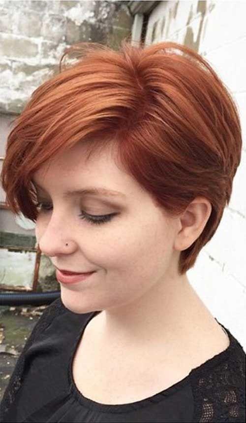 Thin redhead short hair — photo 1
