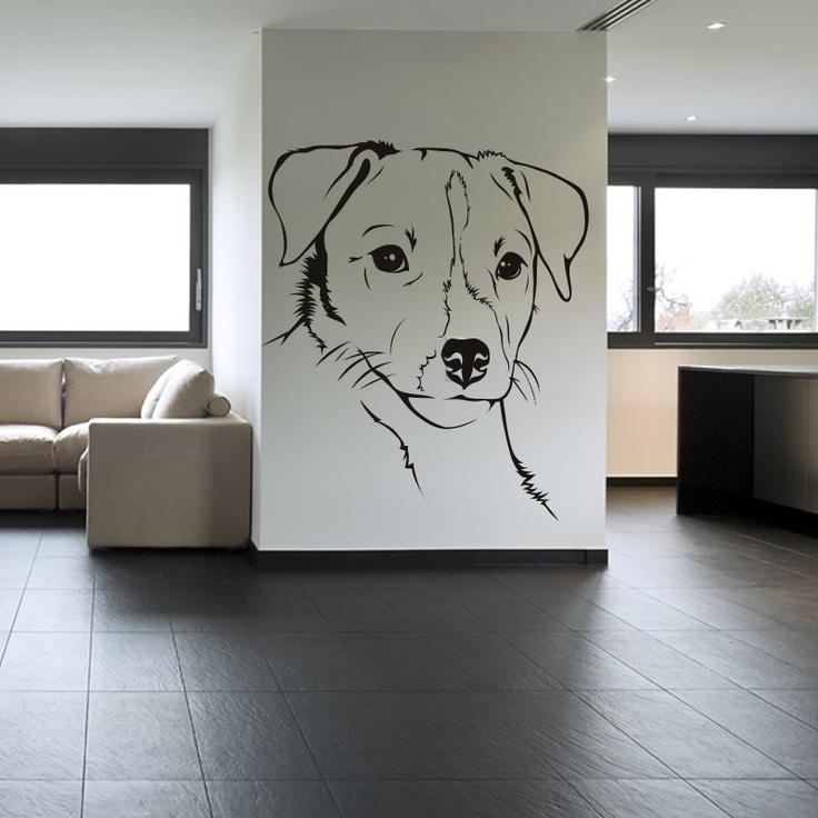 Best Mans Best Friend Dog Wall Stickers Decals Images On - Wall decals animalsanimal wall decal animals wall art stickers animal wall