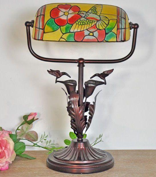 Koliber - lampa w stylu secesyjnym / humming-bird lamp art nouveau