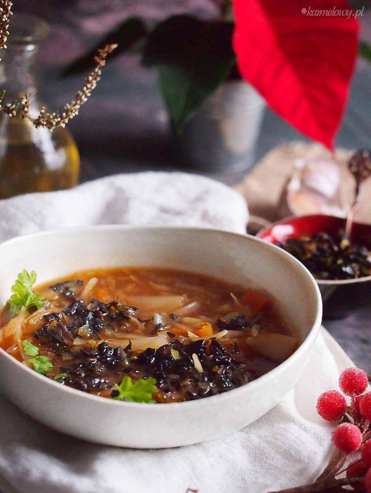 Postny kapuśniak z grzybami / Cabbage and mushroom soup
