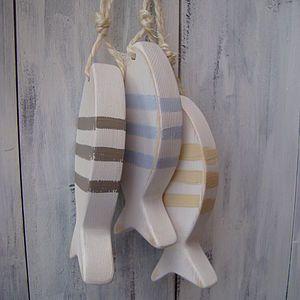 Rustic Hanging Fish Decoration - interior accessories