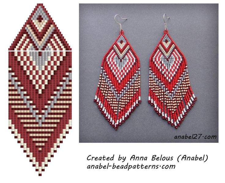 Schemes for beading - earrings with fringe - free peyote earrings pattern
