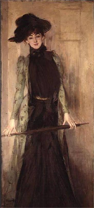 Giovanni Boldini  Princesse de Caraman Chimay, 1889 olio su tela, 206 x 83,5 cm. Collezione privata