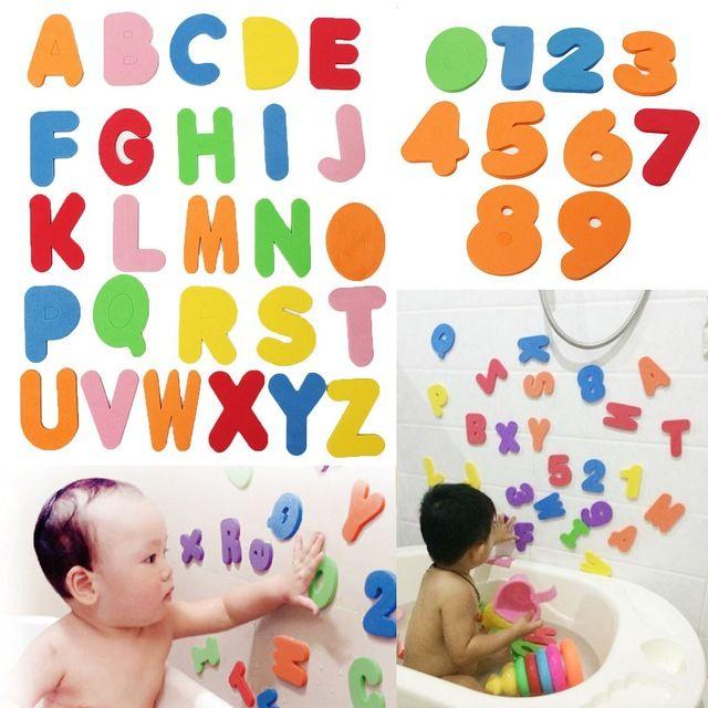 36 STÜCKE Alphanumerische Buchstaben/33 stücke Russische alphabet Bad Puzzle Weicher EVA Zahlen Kinder Baby Spielzeug Früh Pädagogisches Spielzeug werkzeug Bad Spielzeug