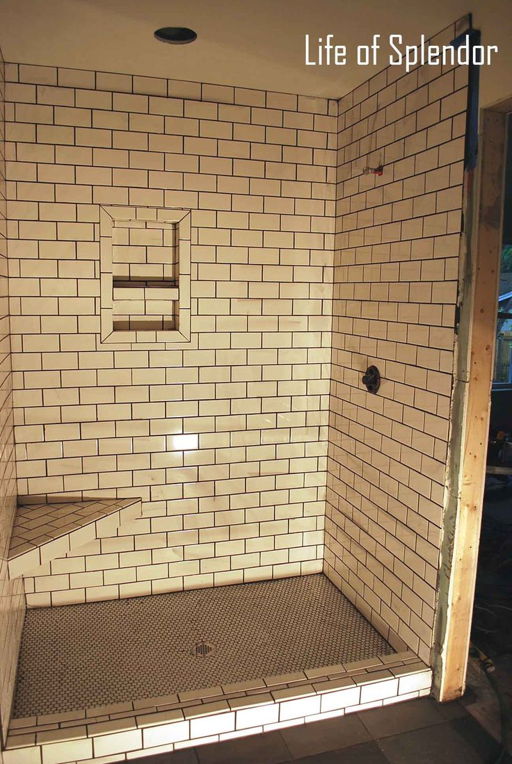 83 best tile shower ideas images on pinterest bathroom for Subway tile designs