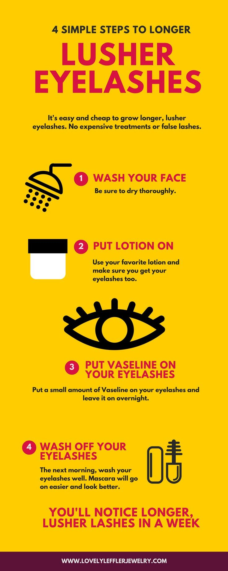 How Can I Make My Eyelashes Grow Faster? Tip to easily make your eyelashes grow thicker and look more beautiful.