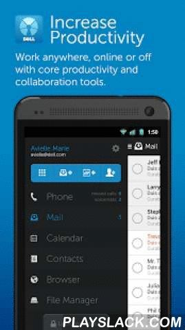 Dell Mobile Workspace  Android App - playslack.com ,  Please contact your IT administrator before installing Dell Mobile Workspace. The Mobile Workspace application requires a Microsoft Exchange environment, and a subscription to the cloud-based Dell Enterprise Mobility Management (EMM) service. Minimum changes to configurations of local infrastructure may be needed to provide access to the corporate intranet (see www.dell.com/emm for more details).Mobile Workspace is a secure mobile…