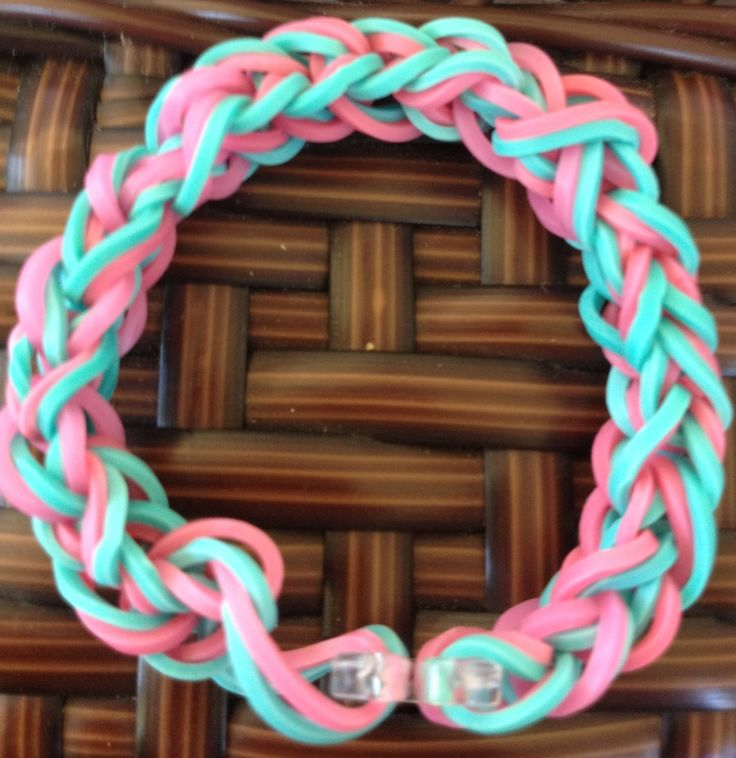 Rainbow loom bracelet... I made this bracelet!