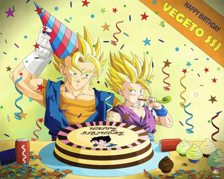Dragon Ball - GOHAN 85 - HAPPY BIRTHDAY VEGETTO by ~phanhaingan on deviantART