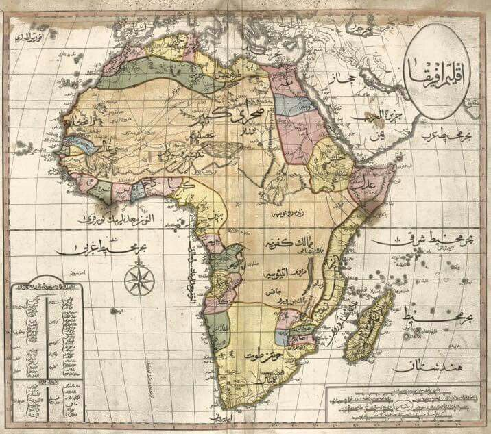 Ottoman map about Africa.