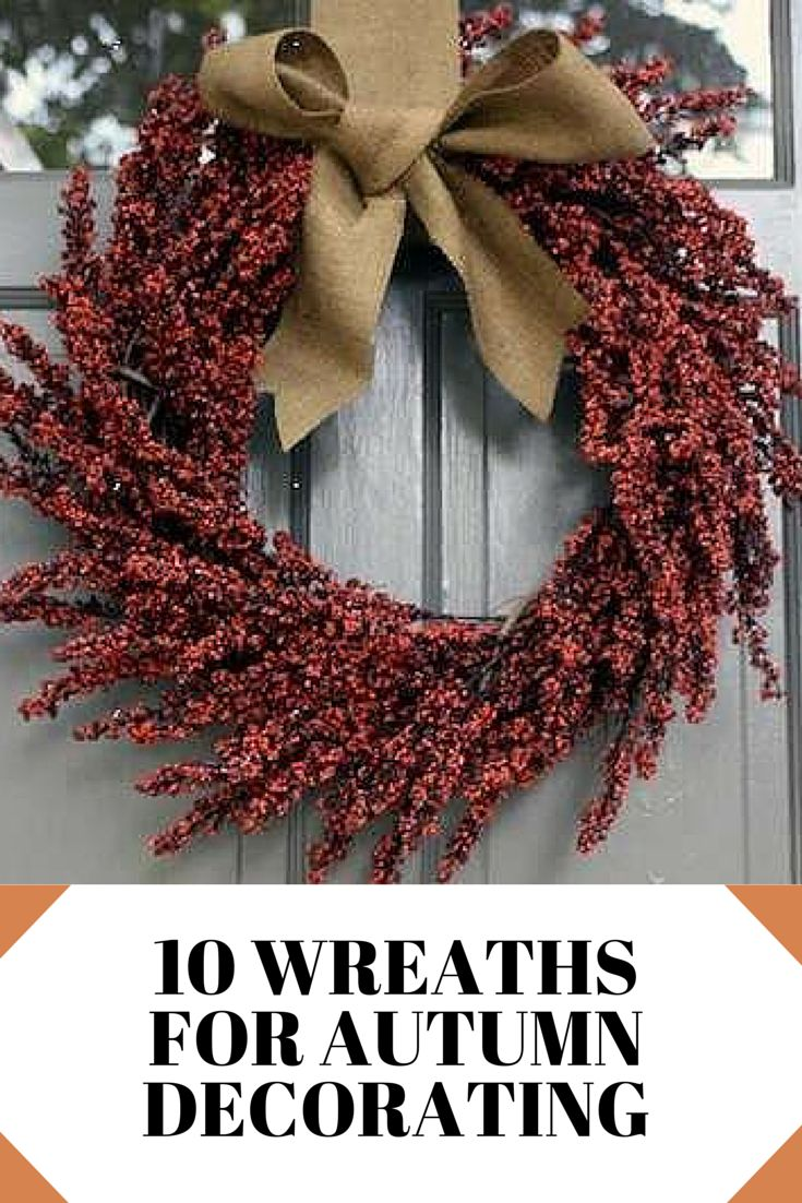 Autumn is almost here! Hang one of these creative wreaths on your front door for a welcoming fall touch.