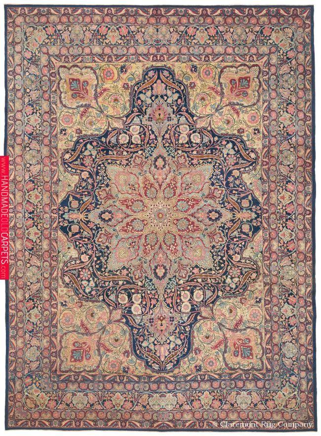 Antique Laver Kirman Room Size Oriental Carpet With Images