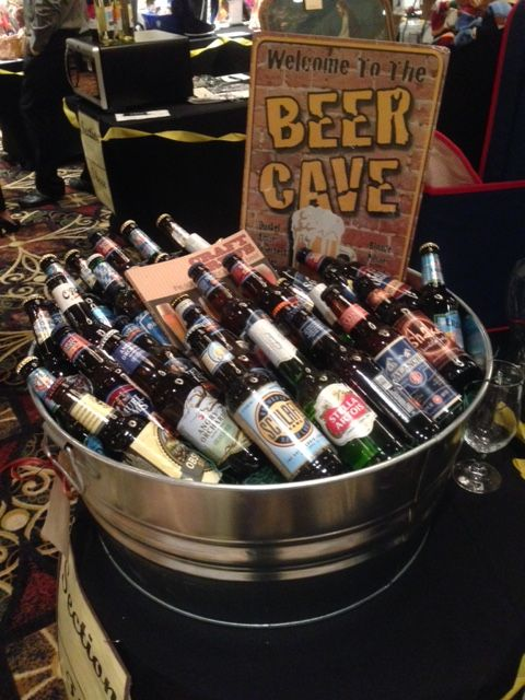 Beer Cave - Assorted craft beer silent auction basket. #curranmiller                                                                                                                                                                                 More