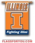 Illinois Fighting Illini Double Sided Outdoor Hanging Banner