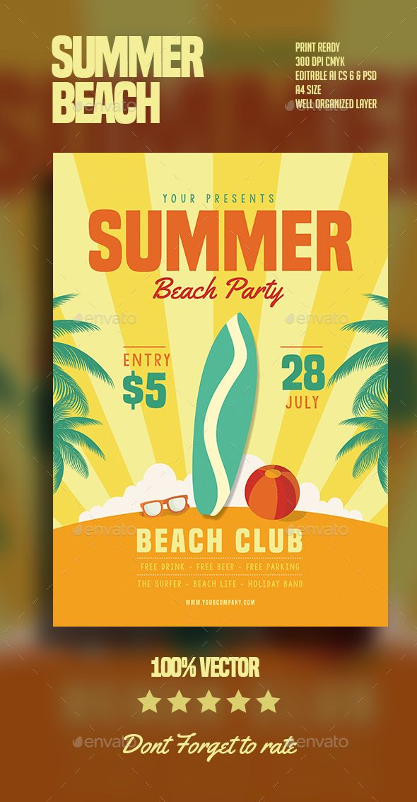 1204 best Flyers images on Pinterest Event flyers, Flyer - summer flyer template