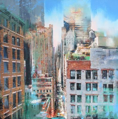 "Congratulations, Vangelis Rinas, on your art sale of ""Nassau Street""  To learn more about Vangelis and his artwork, click on link: http://www.artblend.com/vangelis-rinas/ Contact Elaine Joseph for further information at elaine@artblend.com"