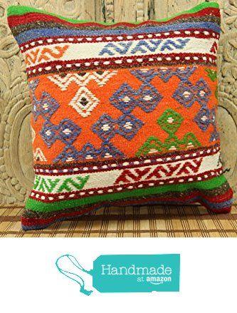 Turkish Handmade Kilim Pillow Cover 16x16 Stripe Pillowcases Rustic Kilim Pillow Sofa Decor Ethnic Pillow cover Tribal Pillow Cover Wool Pillowcases Bohemian Pillow cover Colorful Pillow from Kilimwarehouse http://www.amazon.com/dp/B0198AMVPY/ref=hnd_sw_r_pi_dp_JrsCwb0P9JDT5 #handmadeatamazon