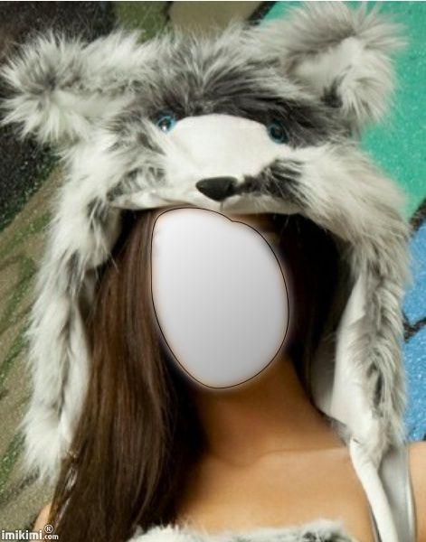 animal fur hat...