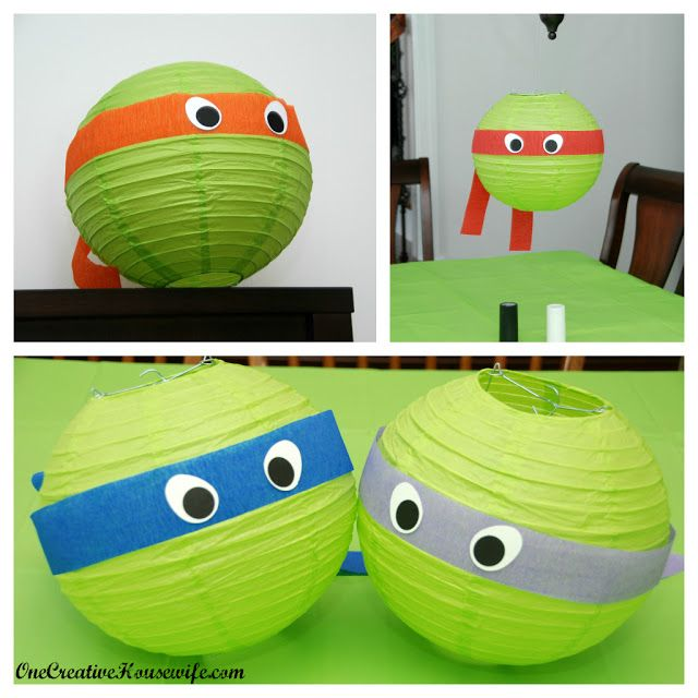 DIY: Teenage Mutant Ninja Turtle Lantern for a boys party