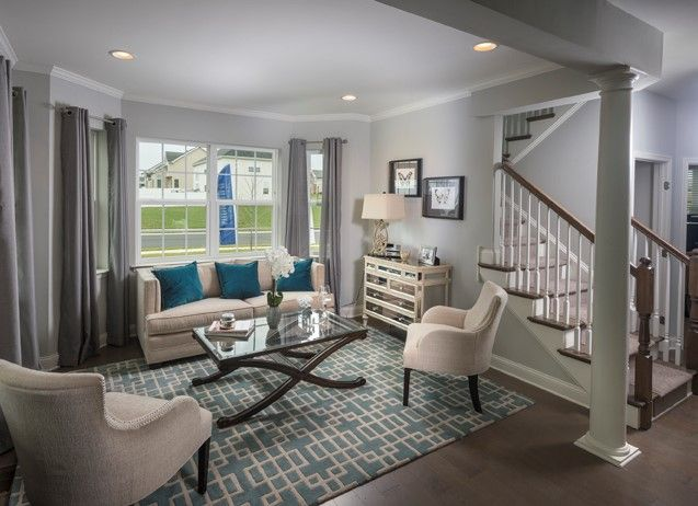 Blue And Grey Hues In This Gorgeous Formal Living Room By DR Horton