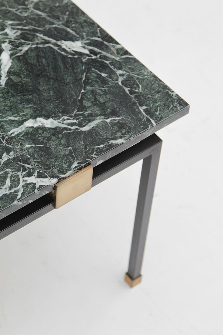 1950s coffee table green marble