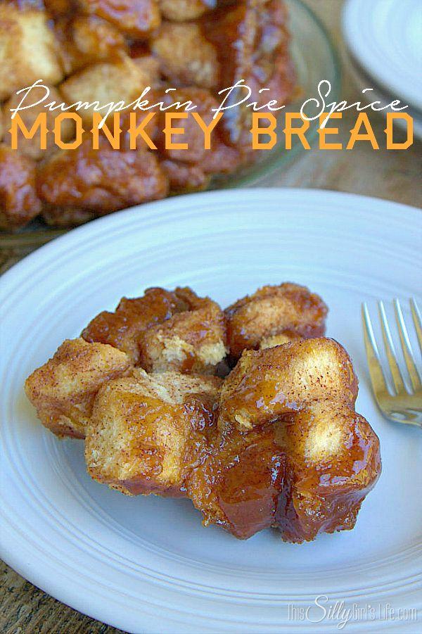 Pumpkin Pie Spice Monkey Bread, buttermilk biscuits coated in brown sugar & pumpkin pie spice, baked with a sticky sweet glaze! #CreativeBuzz