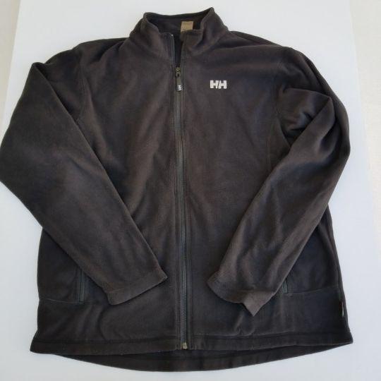 Helly Hansen Men's Black Fleece Zip Up Jacket sz XL