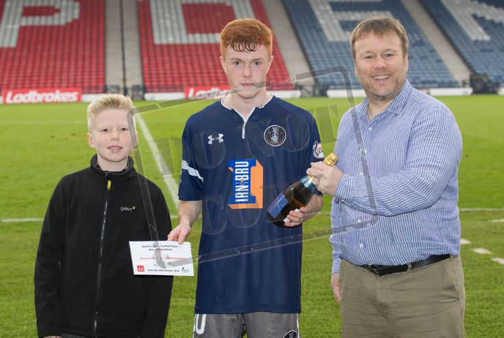Queen's Park's Liam Brown Man of the Match after the Ladbrokes League One game between Queen's Park and Stenhousemuir.