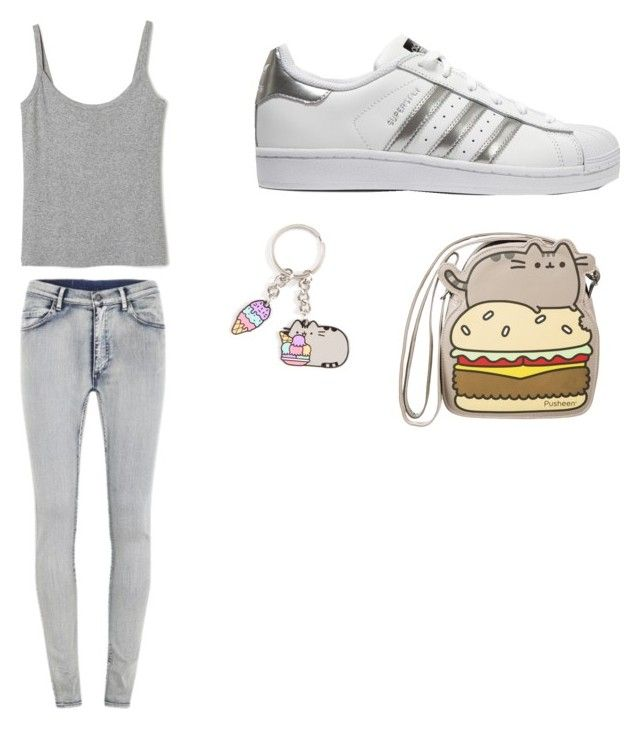 """""""Untitled #6"""" by elinaelina-1 ❤ liked on Polyvore featuring Cheap Monday, adidas Originals and Pusheen"""