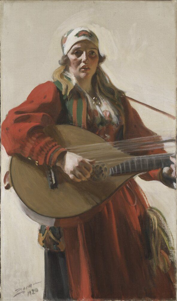 Home Tunes | Anders Zorn | 1920 | Nationalmuseum, Sweden | Public Domain Marked