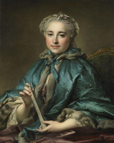 Madame de Livry, Louis Tocqué, 1745/55, Birmingham Museum of Art