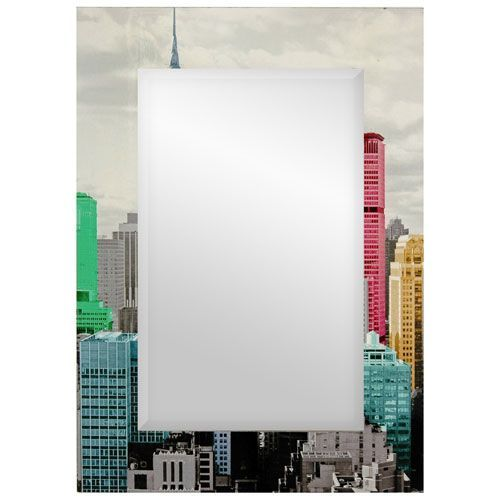 Colorful New York City Mirror, Width - 19.75 Inches